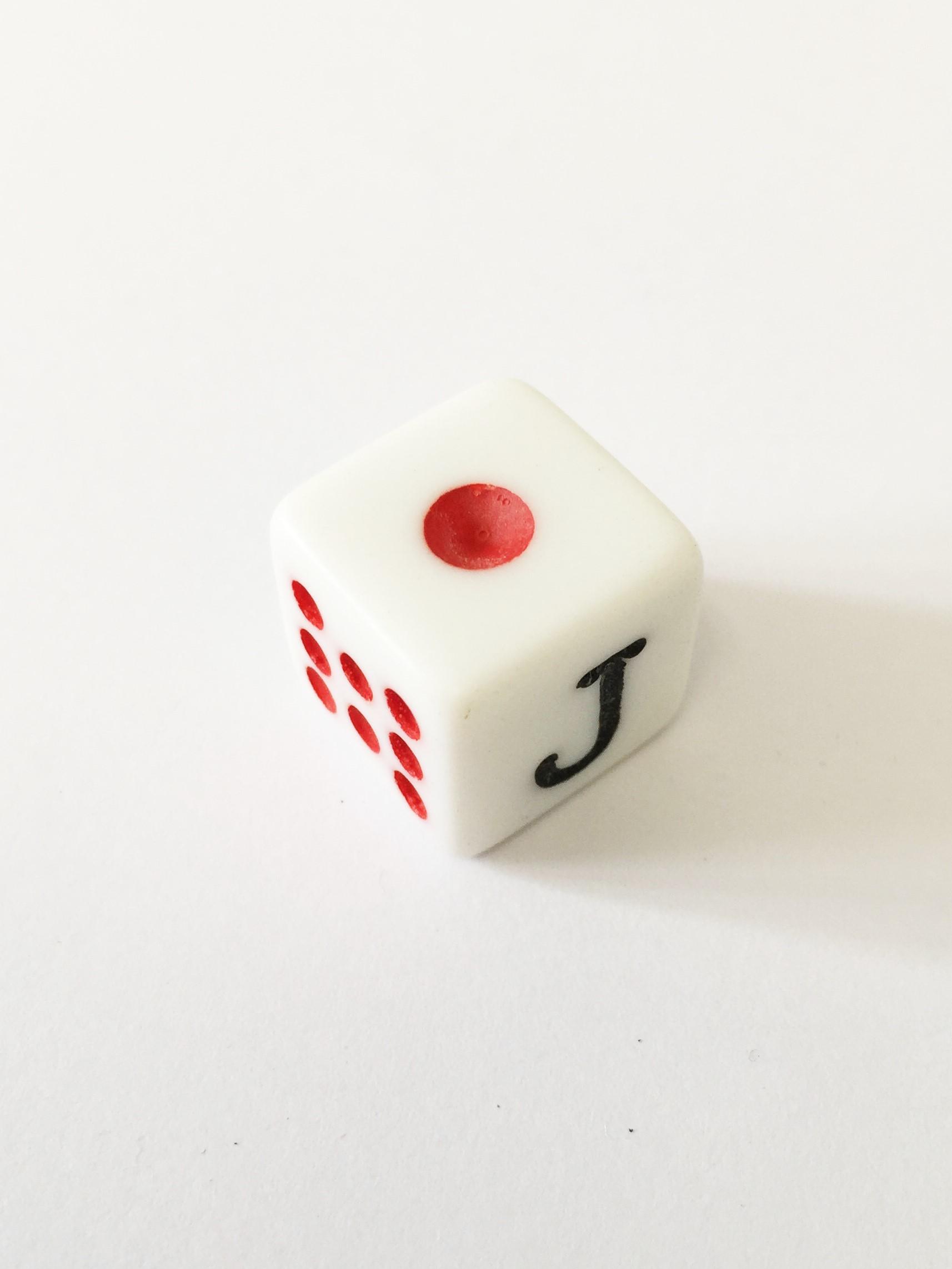 cubo D6 1D6 6 caras dado de poker