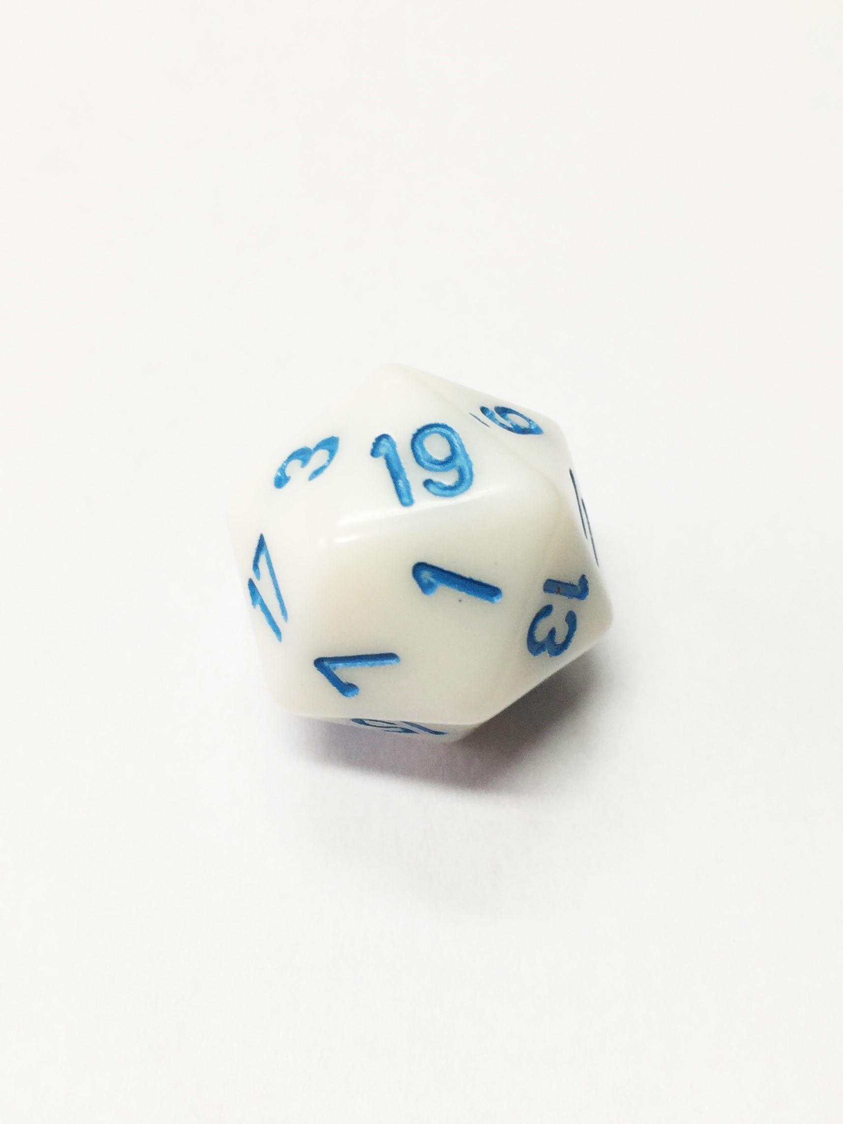 icosahedro 1D20 D20 blanco dado de rol