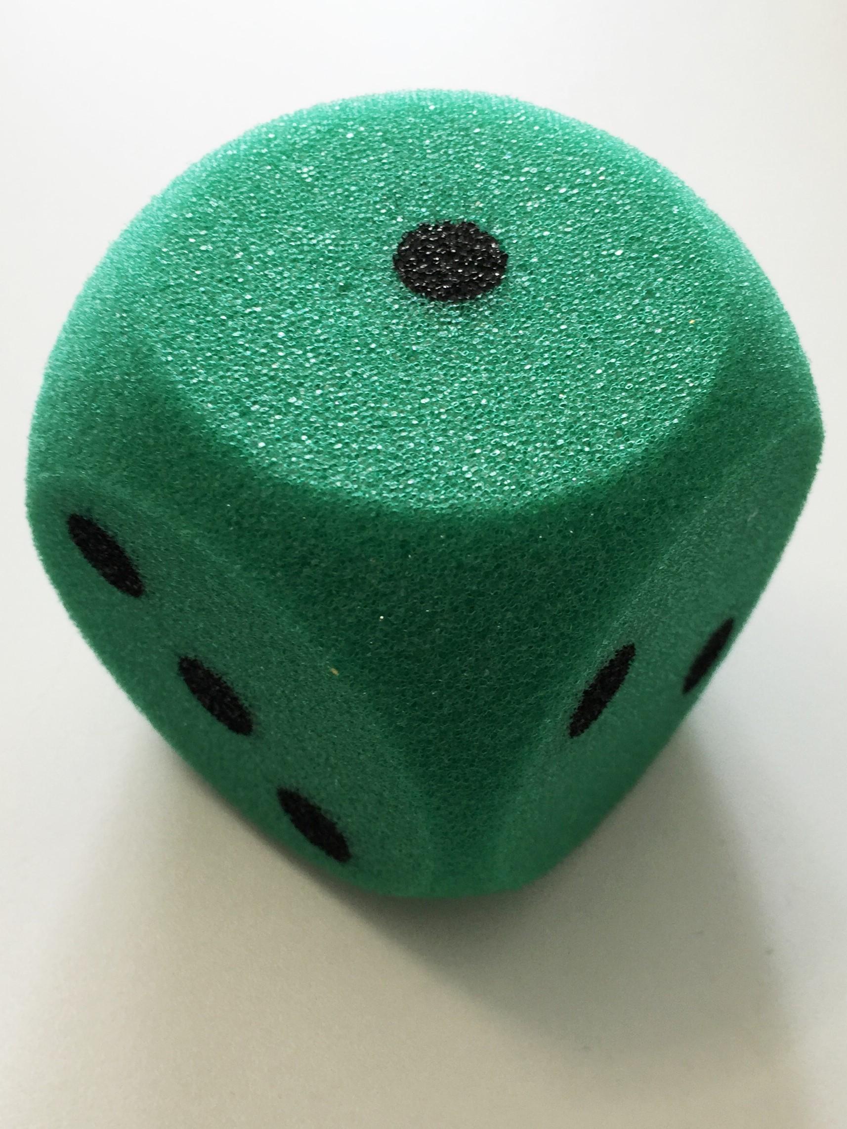 Cubo gomaespuma enorme verde