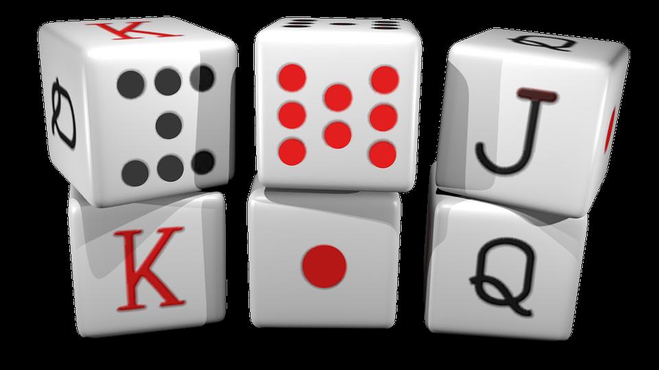 Set completo de dados de poker