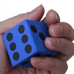Dado goma azul de espuma 38 mm