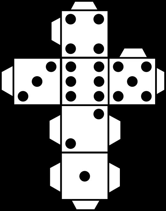Plantilla para hacer un dado de 6 caras